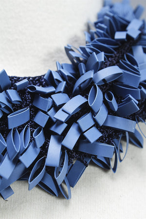 Head Band Rubber in Blue C-JHD1501 - BLUE
