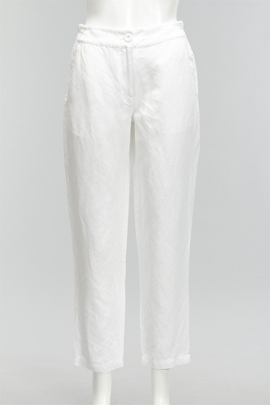 Year Round Ankle Pants in Soft White 47625-1406 - SWHITE