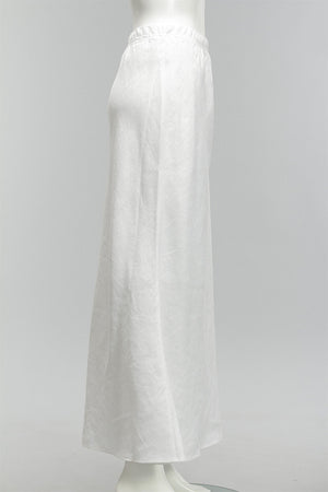 Perfect Bias Cut Skirt in Soft White