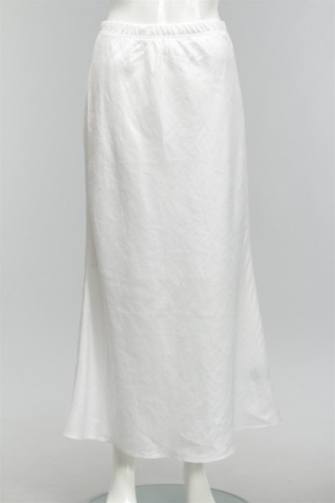 Perfect Bias Cut Skirt in Soft White 48226-9377-SP - SWHITE
