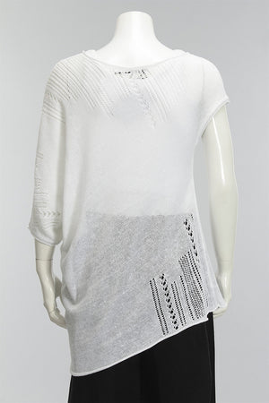 What Goes Around Sweater in Soft White 48426-400 - SWHITE