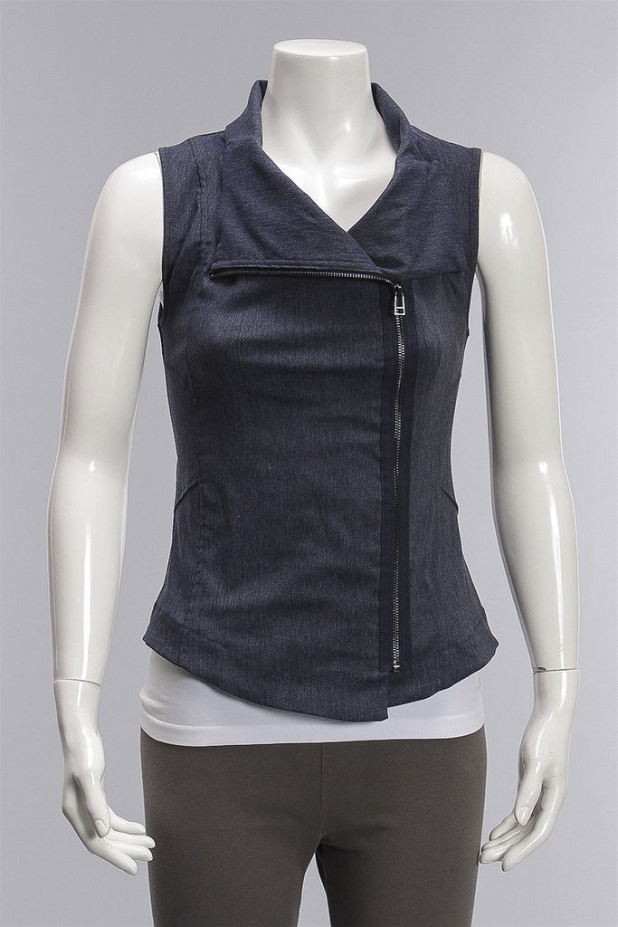 Monarch Vest in Denim G2211 - DENIM
