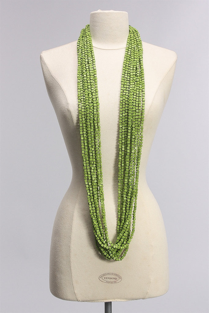 Pashmina Necklaces in Green C-NL1094NP-S16 - GREEN