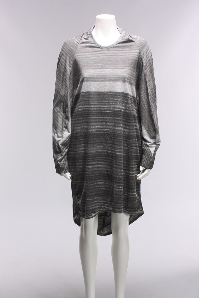 Moyuru Dress in Gray/Stripe