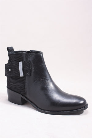 Alessia Boot in Black SI0052 - BLACK