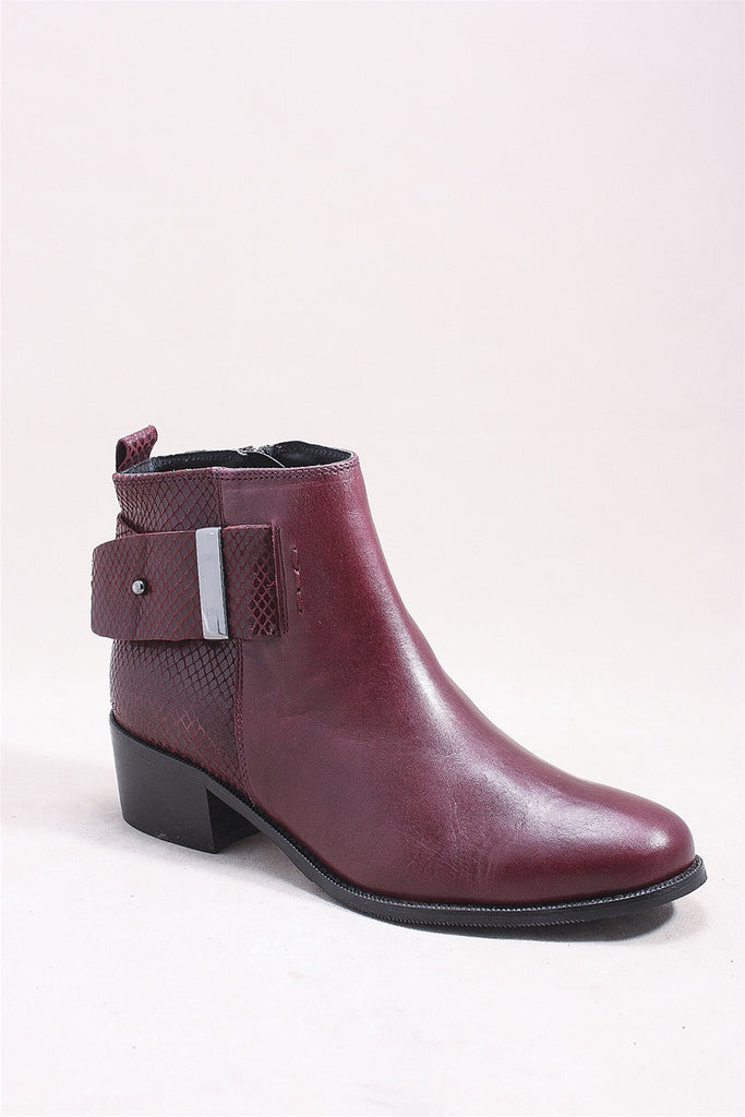 Alessia Boot in Wine SI0052 - WINE