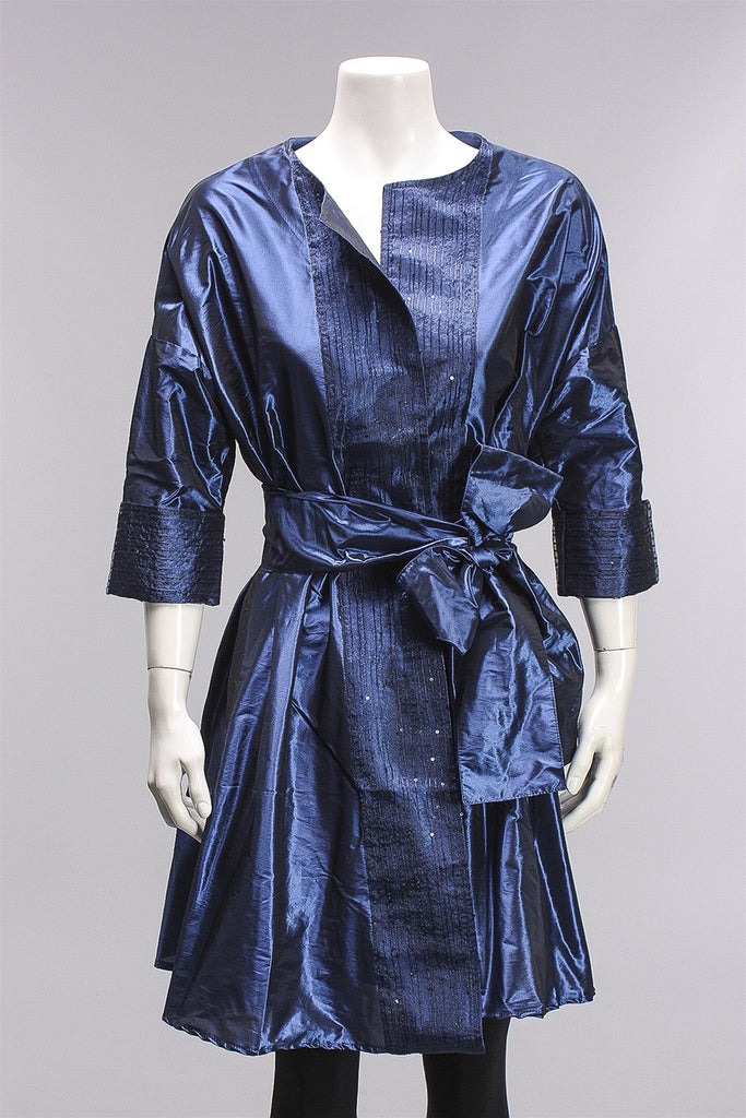 Opera Coat & Belt Bolshoi in Blue/Black W16.7.75 - BLUE/BLK