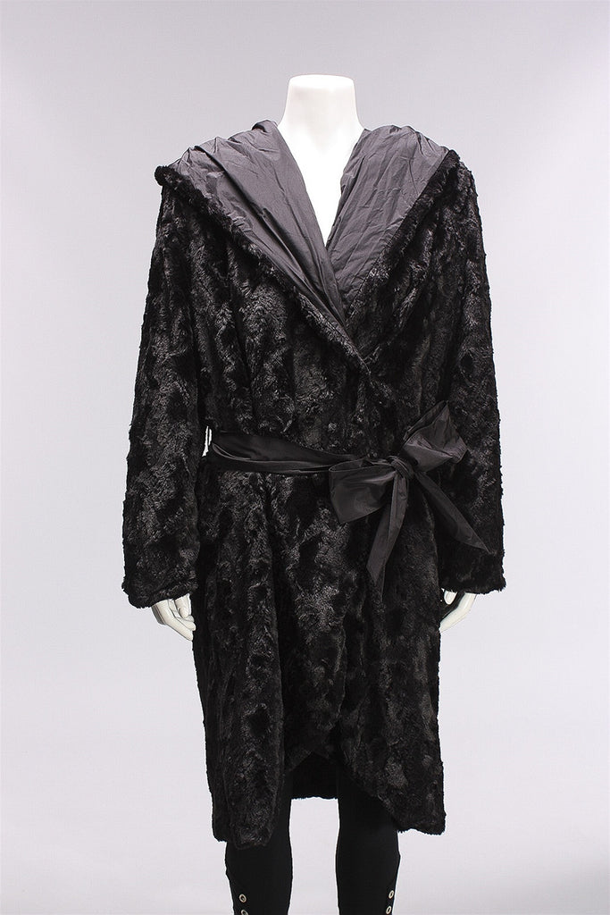 Fur Coat Ogi in Black W16.7.12  - BLACK