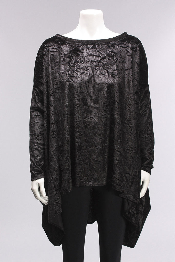 Tunic Velvet in Black W16.7.71 - BLACK