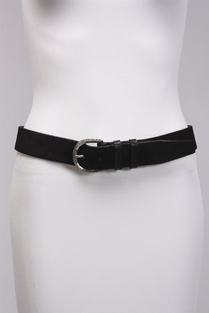 Black Basic Belt in Polished 7279 - POLISHED