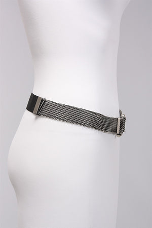 Hook Buckle Belt in Pewter 7246  - PEWTER