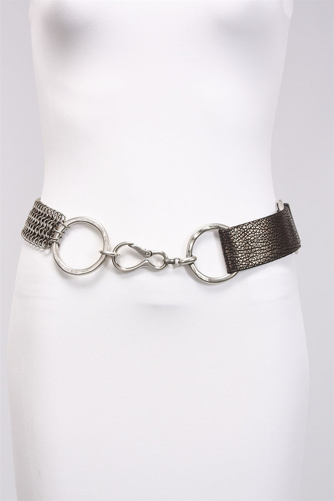 Mixed Textured Gray Belt in Polished 7429 - POLISHED