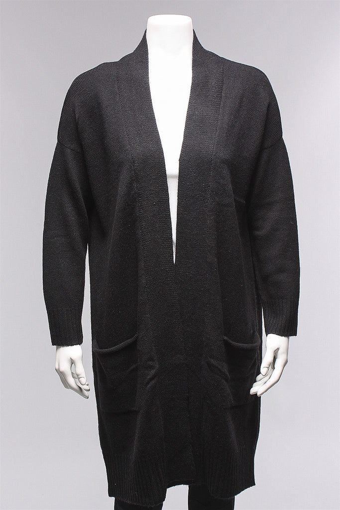 Gilda Pocket Cardigan in Black P30 - BLACK