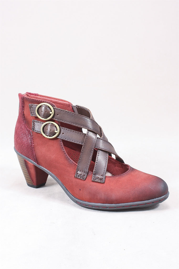 Amber Criss Cross Shoe in Brick 601535W - BRICK