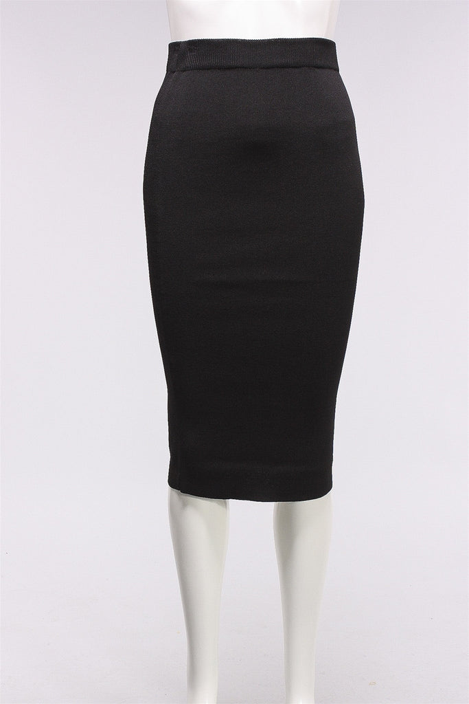 Mid Length Tube Skirt in Black 166-0129-1086  - BLACK