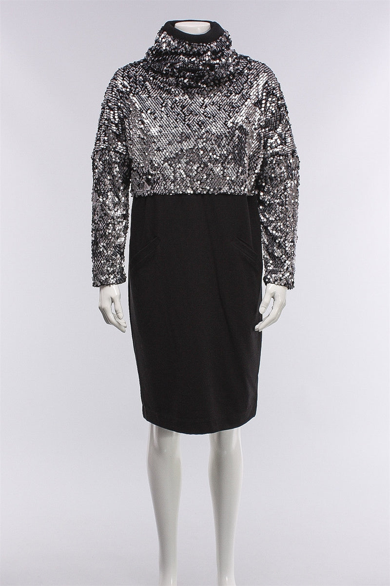 Sequin Dress in Black 167-4006-1081  - BLACK