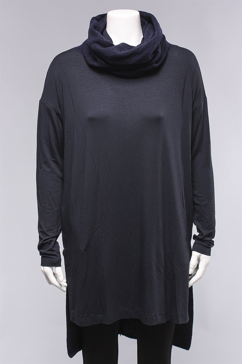 Hi Lo Tunic in Navy/Black C-M815  - NAVY/BLK