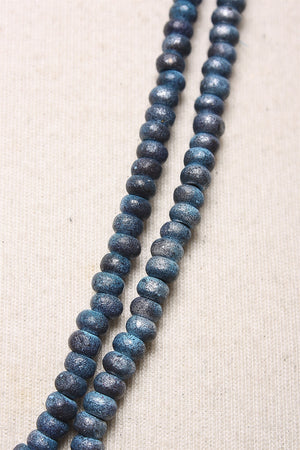 Austrian Hand Painted Beads in Blue C-NL1207 - BLUE