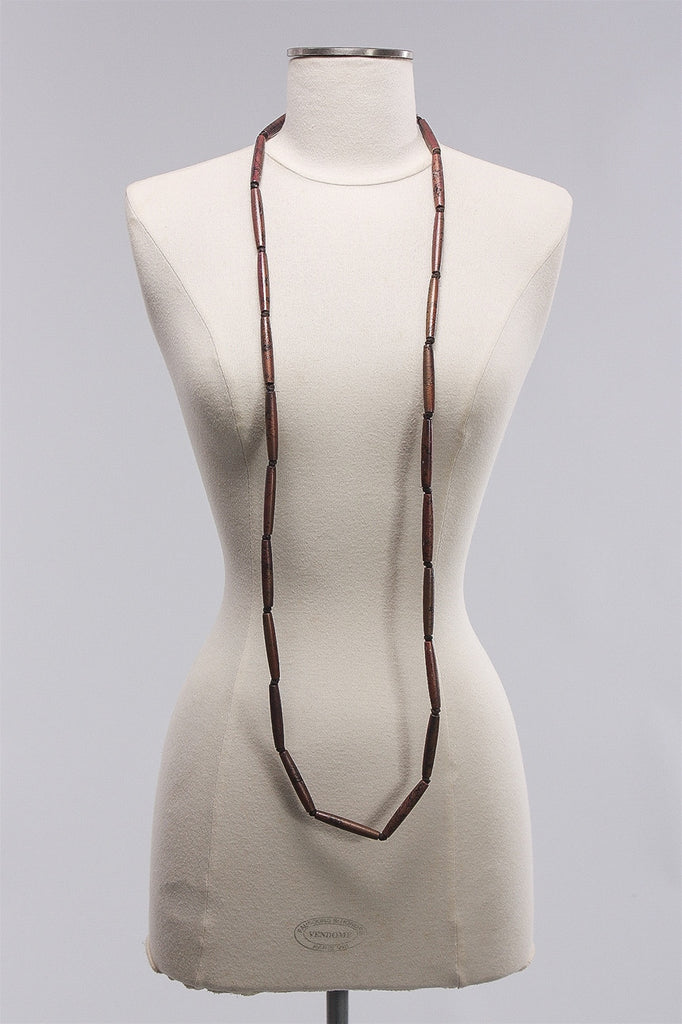 Austrian Black Long Beads in Ochre C-NL1209  - OCHRE