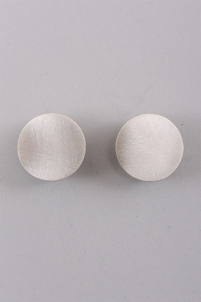 Round Pill Box Earrings in Sterling C-GPE001  - STERLING