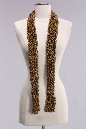 Jianhui Round Wooden Beaded Scarf in Lightwood