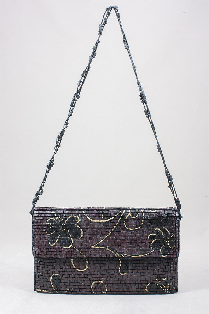 Jianhui HP Floral Handbag in Burgandy