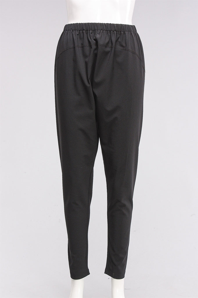 Black Pants in Black C-161616  - BLACK
