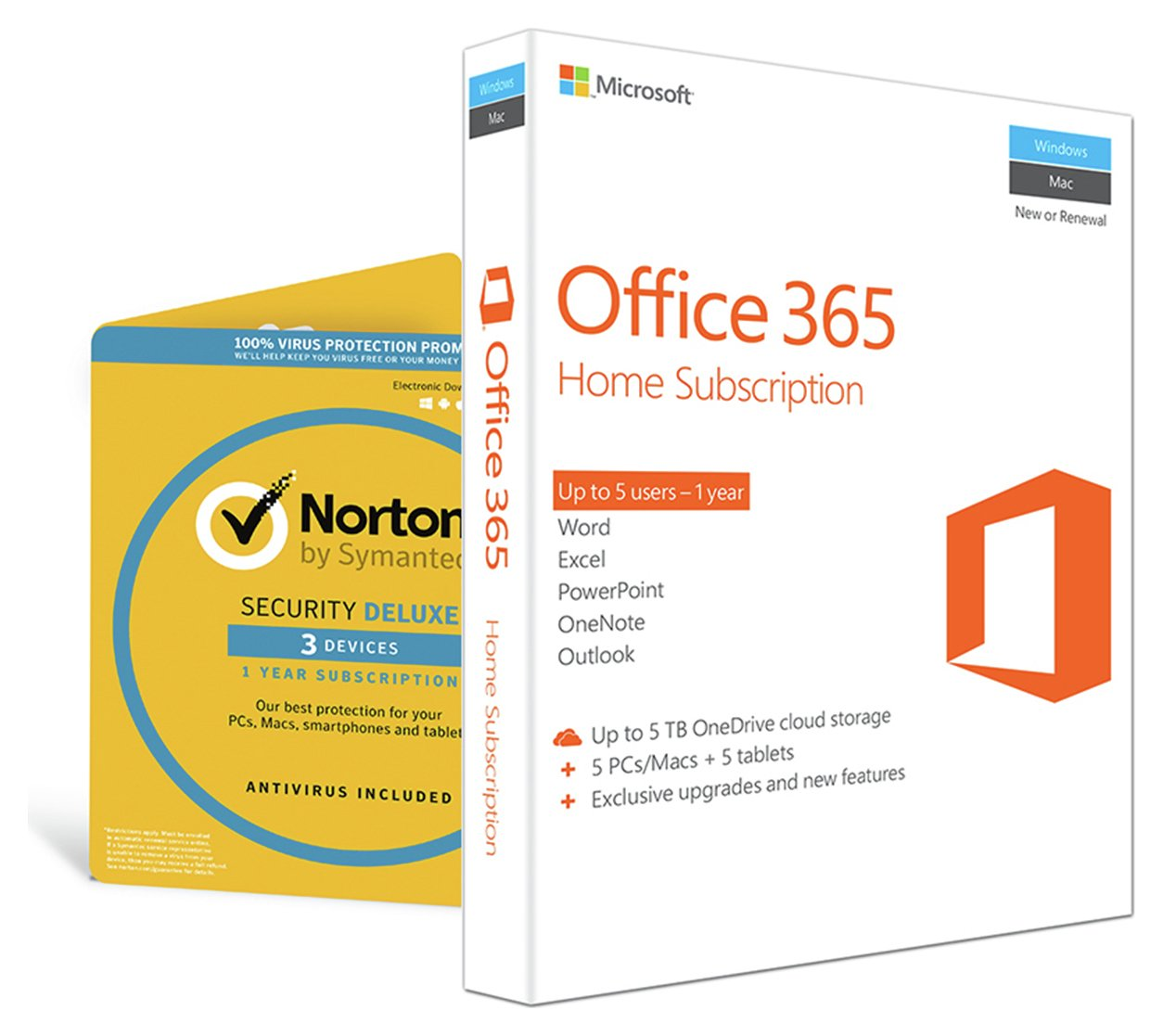 Laptops & Notebooks - Microsoft Office 365 Home & Norton Security 5 ...