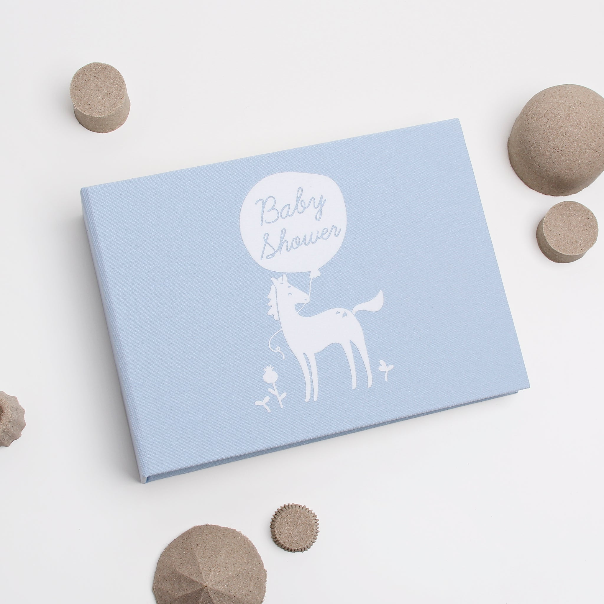 Baby Shower Album,  Light Blue with Little Horse instax picture album, Kids Album - by Liumy - Liumy