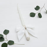 Candle Decoration Baptism Candle Deco Communion Decoration White Color, Christening Confirmation - Liumy