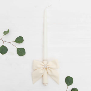 Candle Decoration Baptism Candle Deco Communion Decoration Ivory Color, Christening Confirmation - Liumy