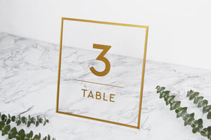 Big Gold Foil Sign For Table Numbers - Acrylic Wedding Sign - Guest book Glass Sign - Transperant Photo Guestbook Sign - by Liumy - Liumy