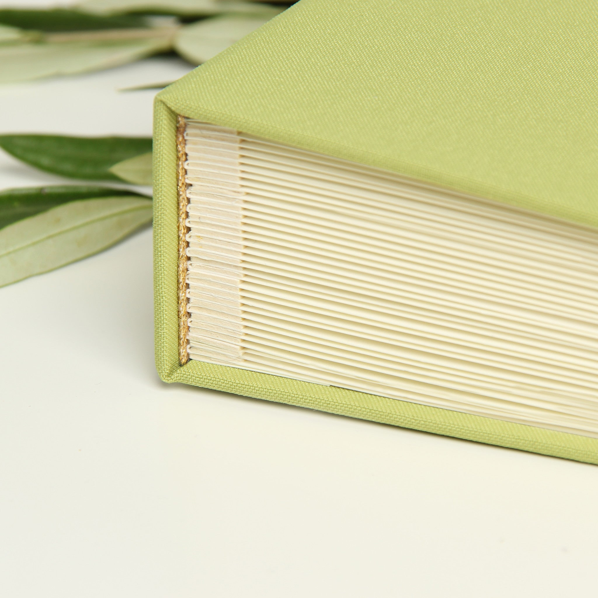 Wedding Guest Book Sign in Book Instant Album Olive with Paper Label by Liumy - Liumy