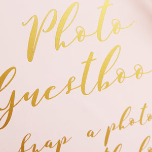 Cursative Gold Foil Sign - Acrylic Wedding Sign - Guest book Glass Sign - Transperant Photo Guestbook Sign - Liumy