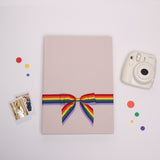 LGBT Wedding Guest Book, LGBT Guest Book With Rainbow ribbon, Instax picture album, Birthday Album - by Liumy - Liumy