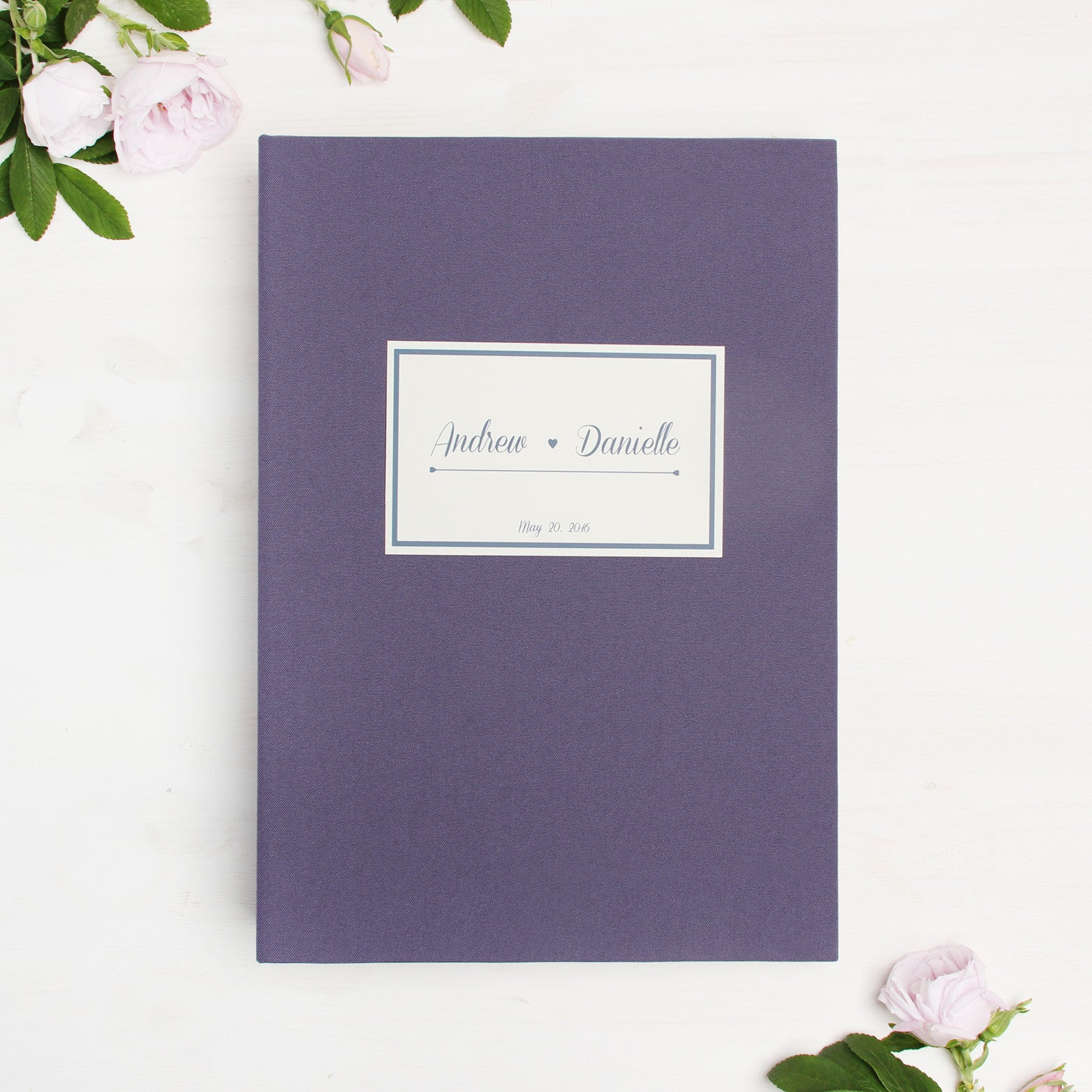 Wedding Guest Book Sign in Book Instant Album Lavender with Paper Label by Liumy - Liumy