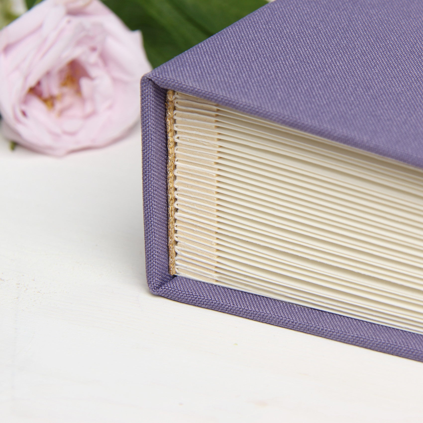 Instant Wedding Guest Book Album Levander with White Lettering by Liumy - Liumy