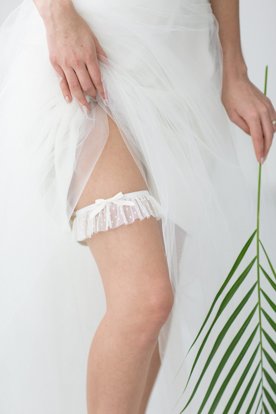 Wedding Bridal Garter Polka Dot by Liumy - Liumy