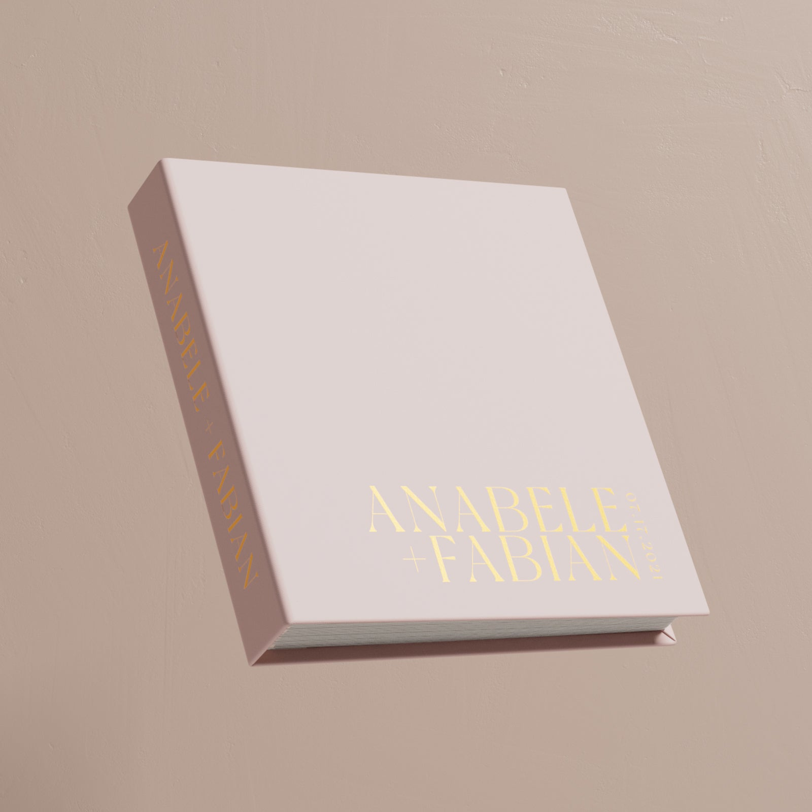 Square Wedding Standard Photo album, Cream Color, Anniversary gift