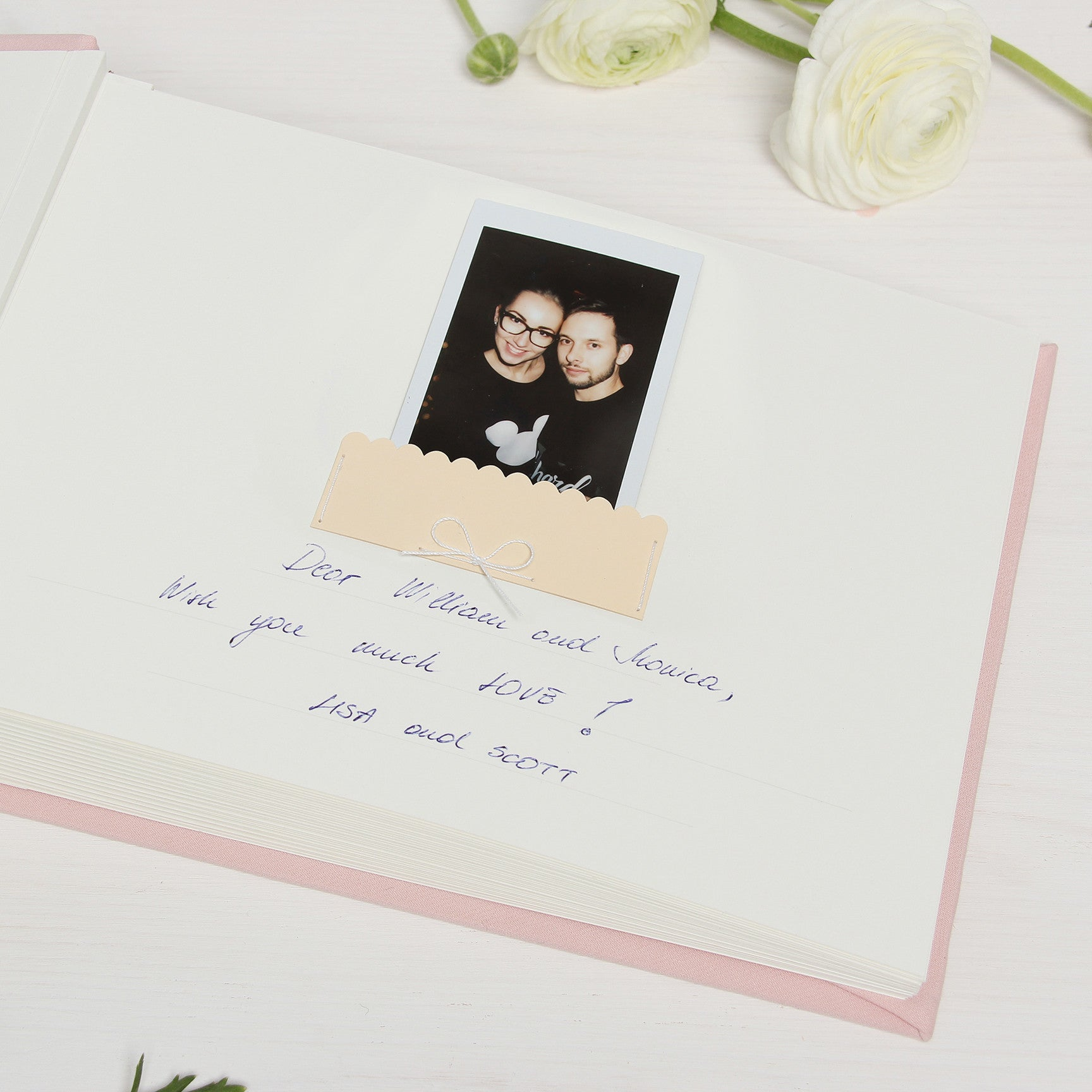 Pink Wedding Guest Book Gold Foil Rose Blush Instant Guestbook - Liumy