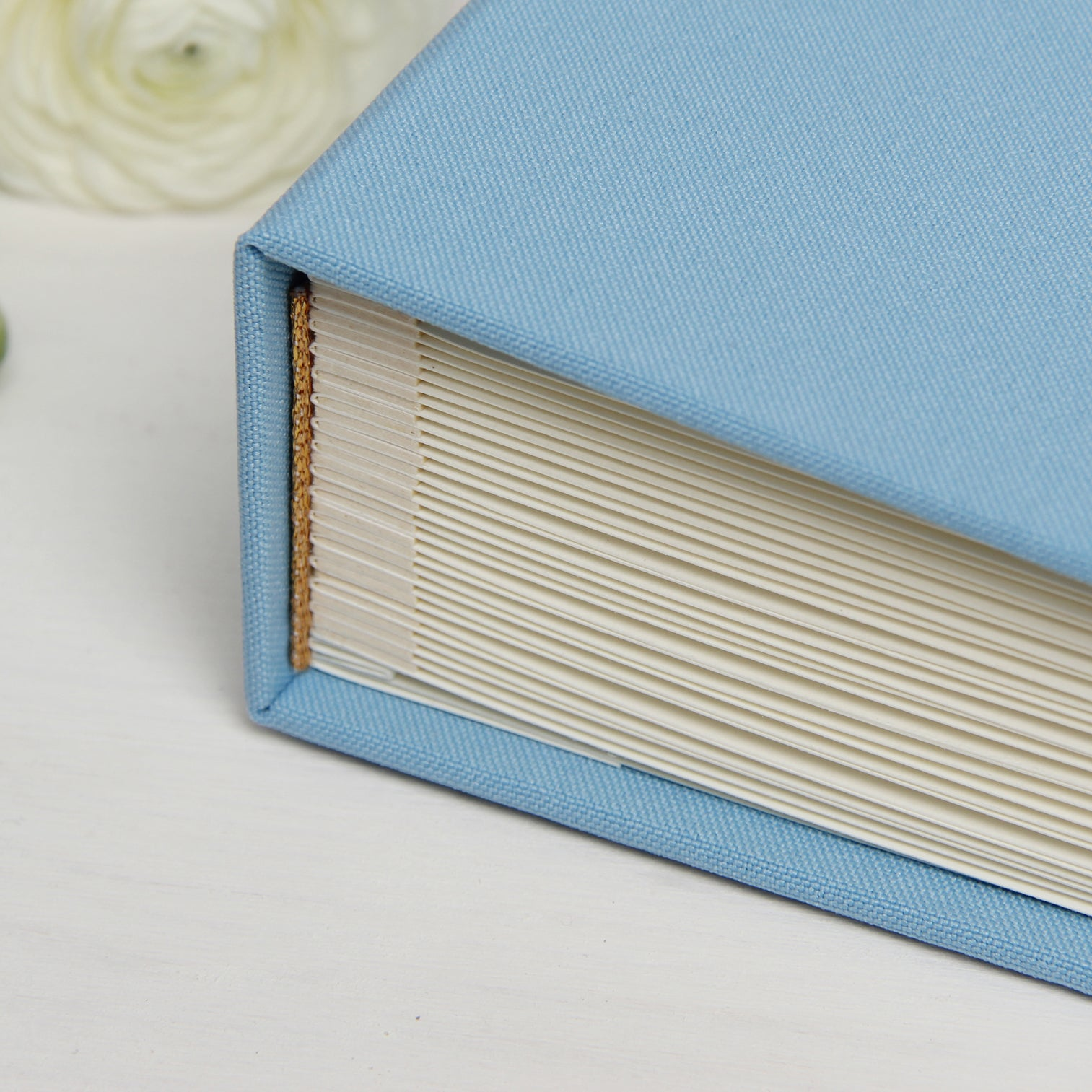 Wedding Album Serenity Aquamarine With White Lettering Guest Book, Photo Guestbook Album