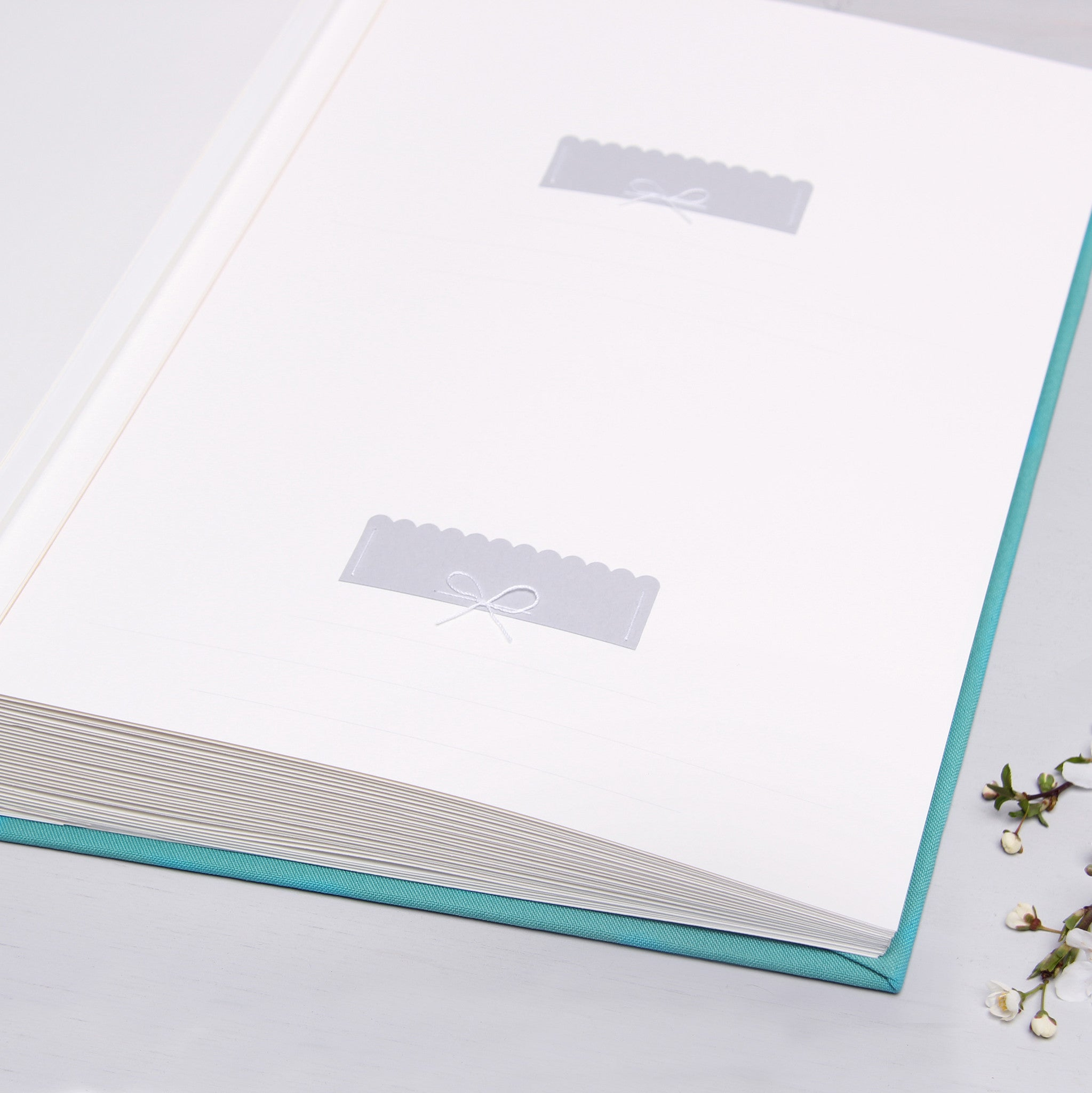 Instax Wedding Guest Book Album Levander with Silver Lettering - Liumy
