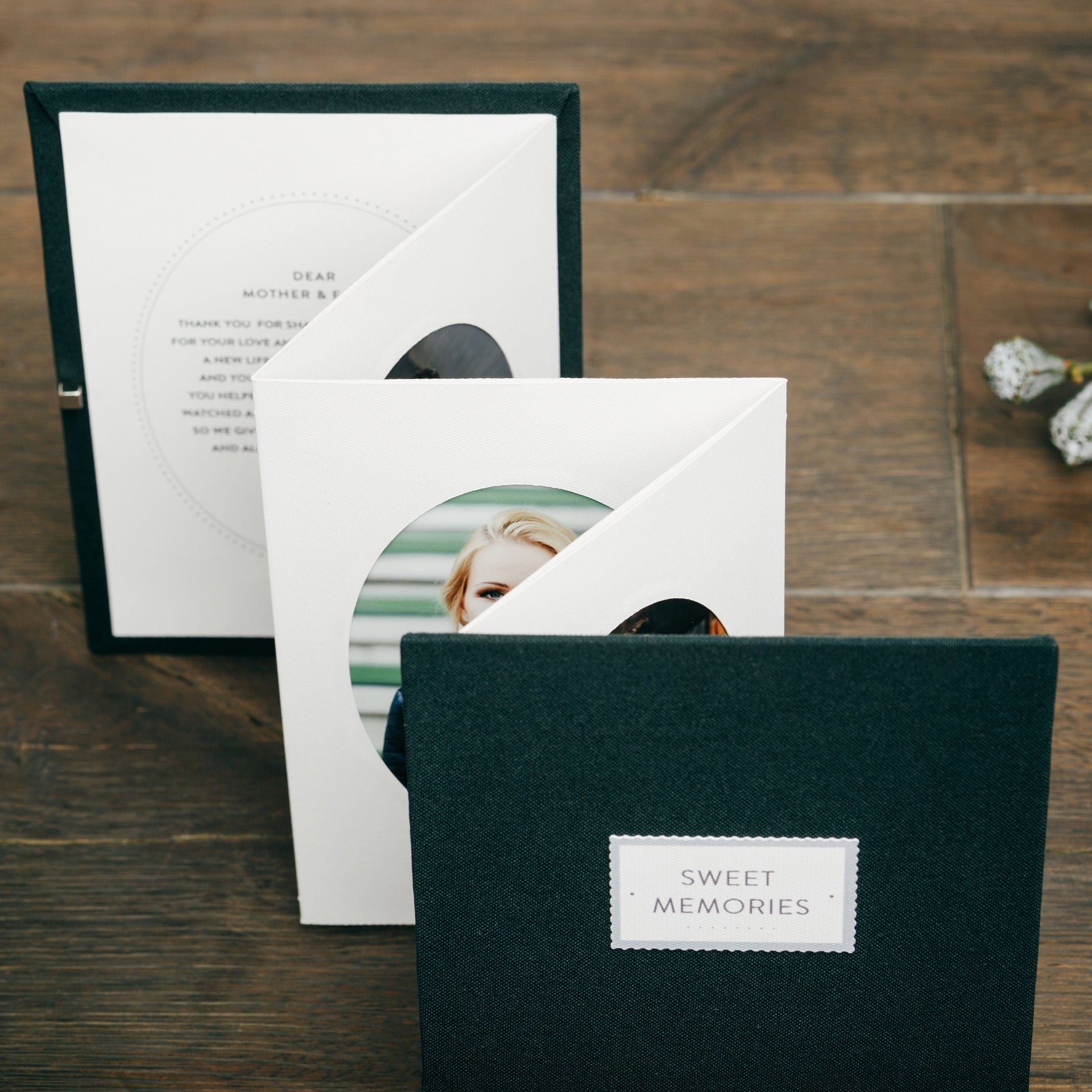 Forest Green Memories Booklet Mother of the Bride Gift Parents Thank ...