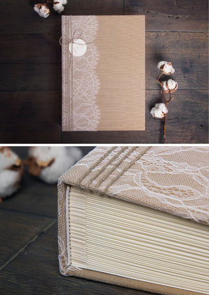 Rustic Lace Instax Mini GuestBook Album - by Liumy - Liumy