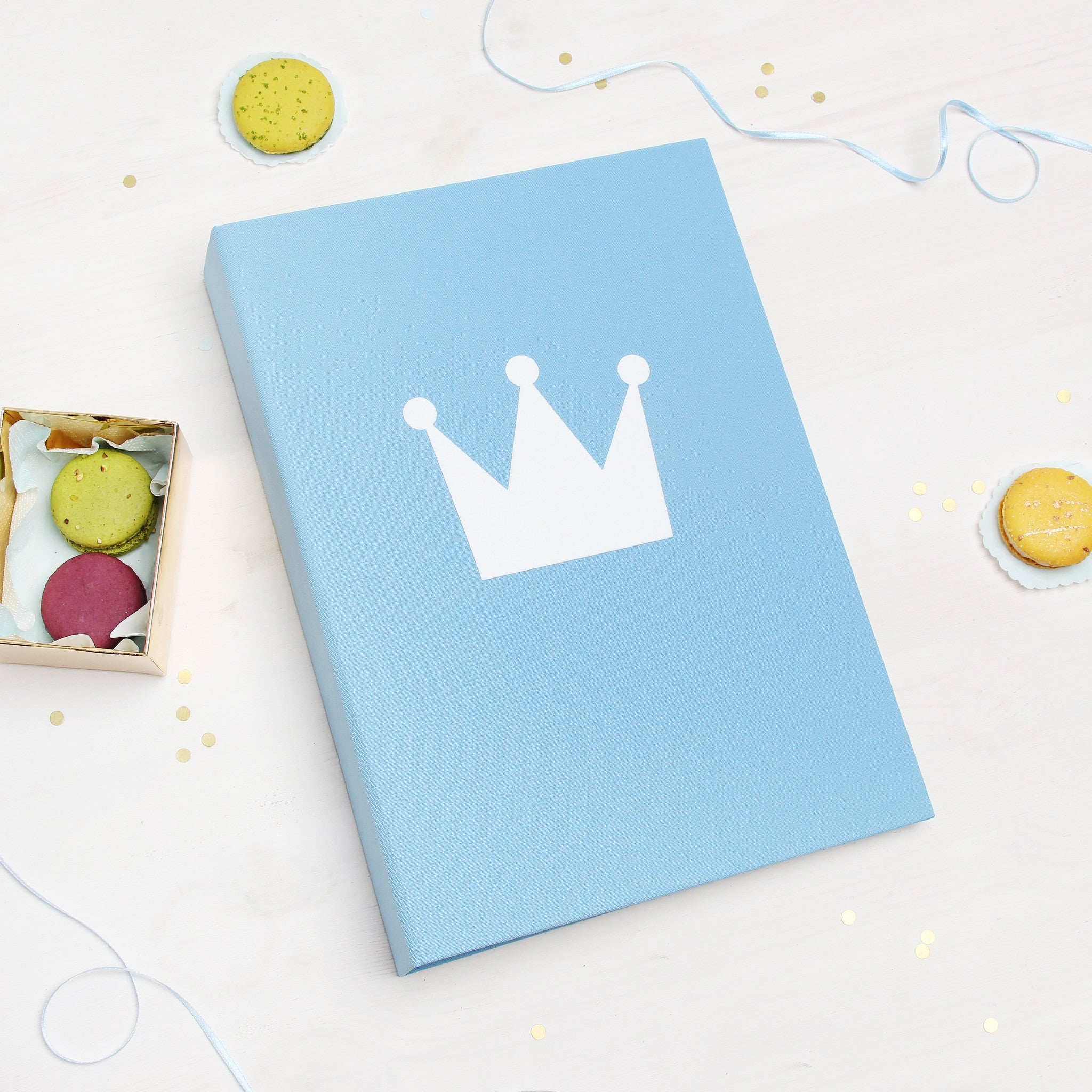Prince Instax Baby Shower Guest Book With Pockets Instant Album Sky Blue - Liumy