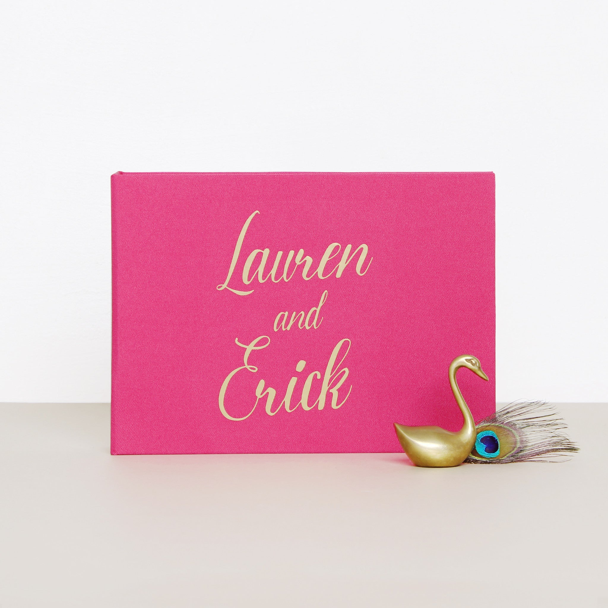 Polaroid Wedding Guest Book Album Magenta with Gold Lettering - Liumy