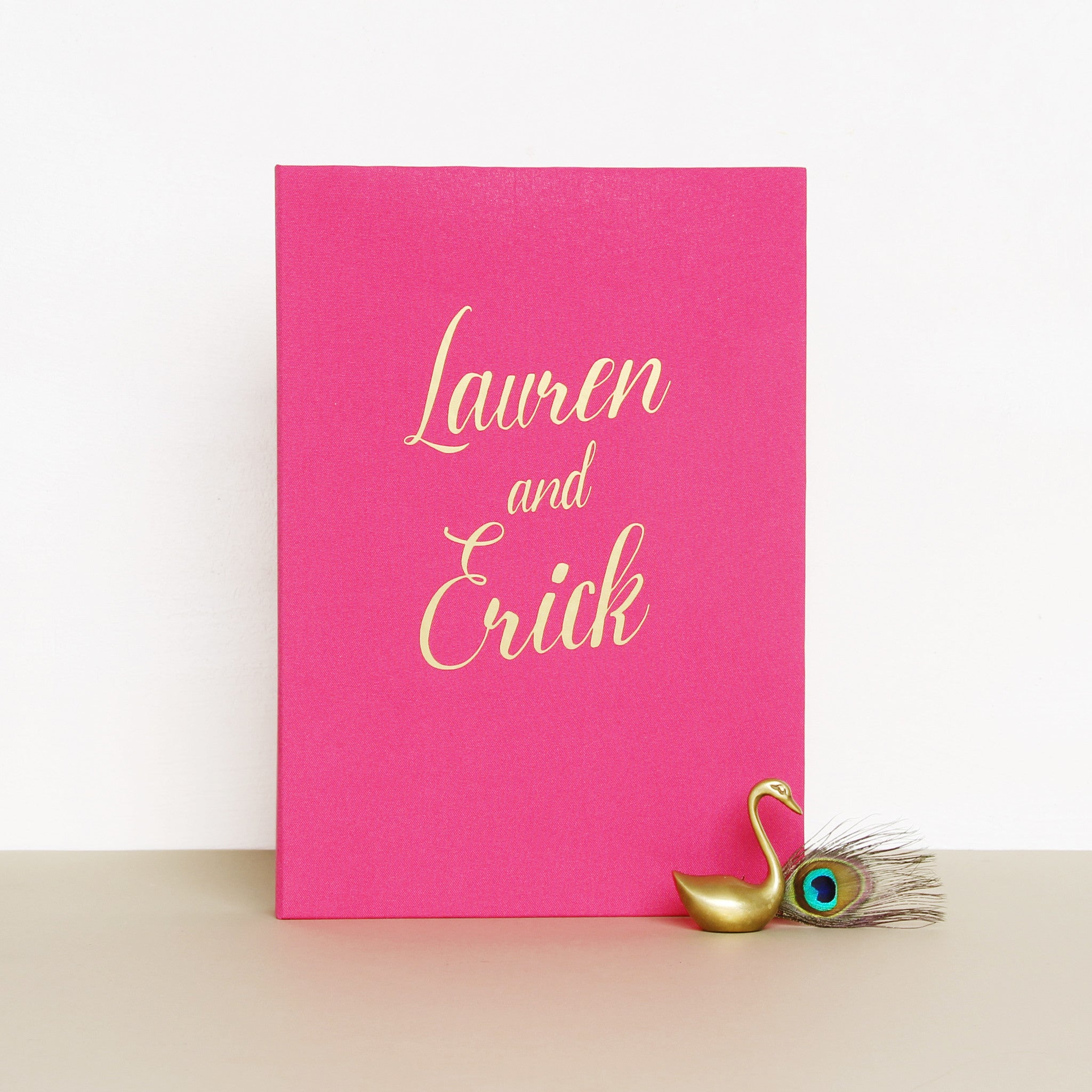 Polaroid Wedding Guest Book Album Magneta with Gold Lettering - Photoboot - Liumy