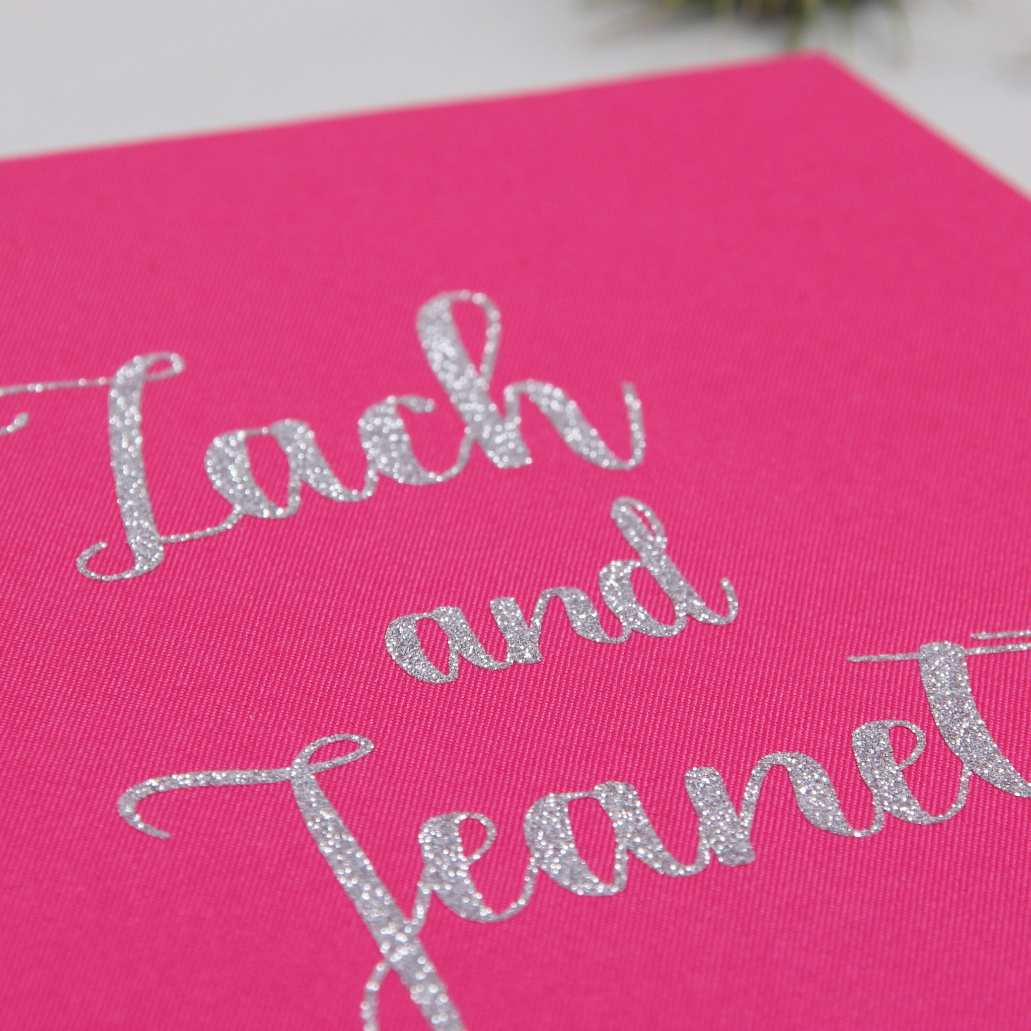 Guest Book Sign in Book Instant Album Magenta with Silver Glitter Lettering, Birthday Album by Liumy - Liumy