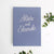 Instant Wedding Guest Book Album Dusty Blue with Silver Lettering by Liumy - Liumy