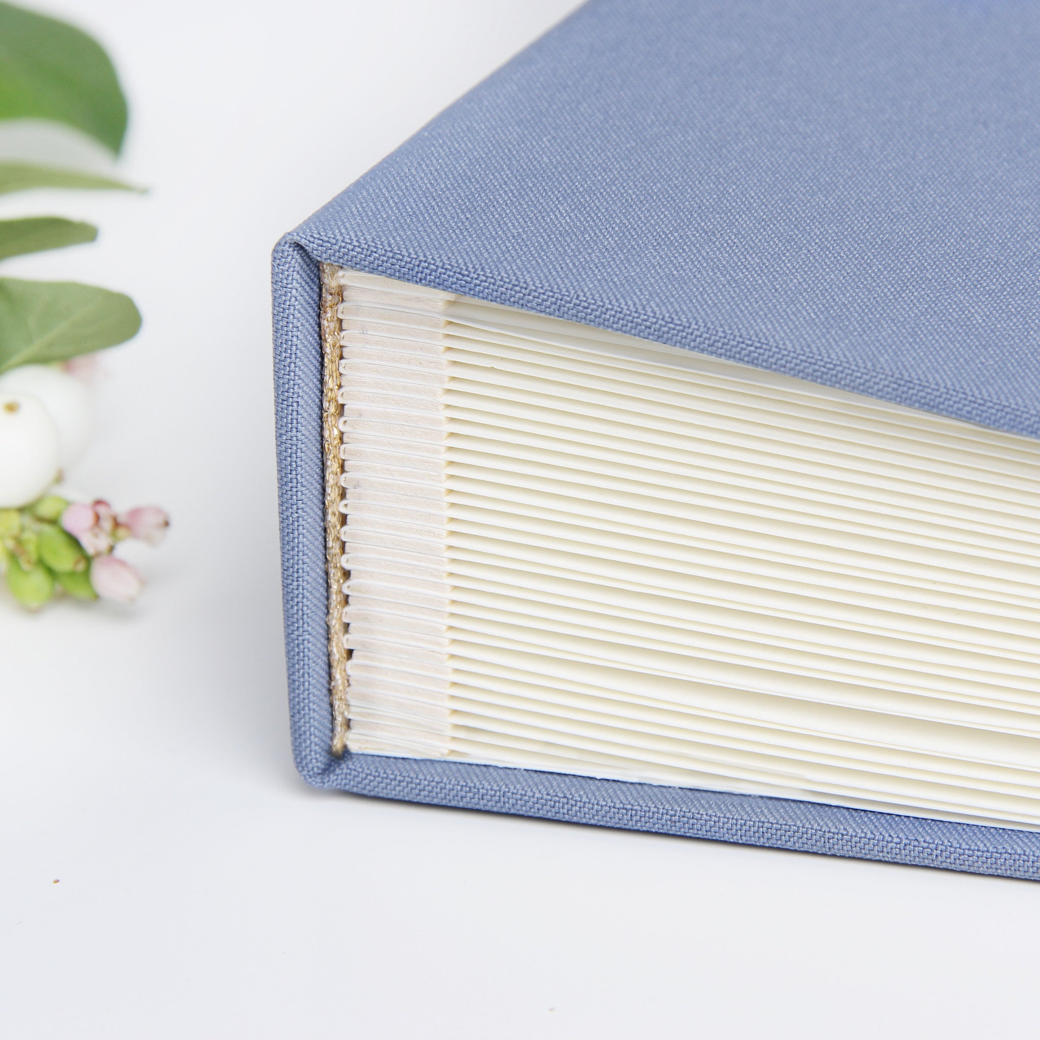 Photo Booth Wedding Guest Book Album French Dusty Blue with White Lettering
